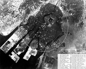 Hiroshima devastated by the atomic bomb launched on August 6, 1945