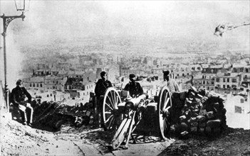 Barricade of the Communards at the Butte Montmartre