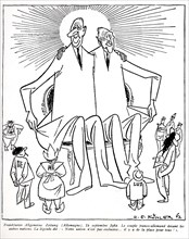 Le couple franco-allemand (De Gaulle, Adenauer) devant les autres nations