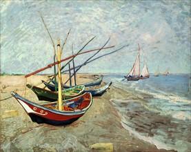 Van Gogh, Fishing Boats on the Beach at Les Saintes-Maries-de-la-Mer