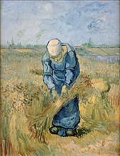 Van Gogh, Peasant Woman Binding Sheaves