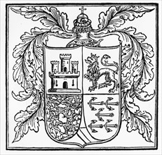 Christopher Columbus' coat of arms in 1502