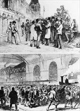 Arrival of the mine workers in London and demonstrations