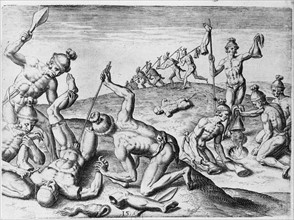 Agua Dulce people mutilating their enemies