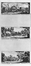Callot, Pillaging of a village, Attacking a diligence and Finding the villains