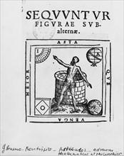 Bruno, Frontispiece of 'Articuli centum et sexaginta adversus huius temporis mathematicos atque philosophos'