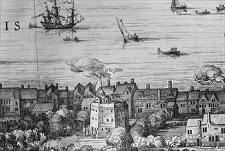 Visscher, View of London at 17th century