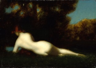 After Henner, Nude in the woods