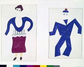 "Léger, Costumes for ""Skating-Rink"""