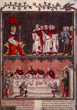 Banquet given by Charles V of France for the Emperor Charles IV