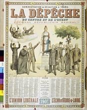 Front page of La Dépêche, 1901
