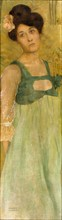 Kirchner, Young lady, green background