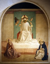 Fra Angelico, Mocking of Christ with the Virgin and Saint Dominic