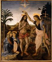 Verrocchio and Da Vinci, The Baptism of Christ