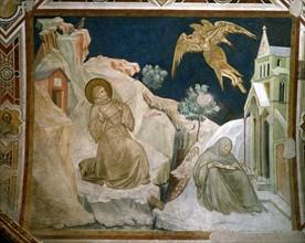 Lorenzetti, Saint Francis being branded with stigmata