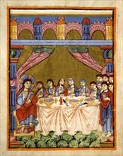 Gospel book from the Reichenau school, The Last Supper