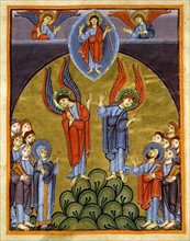Gospel book from the Reichenau school, The Ascension of Christ