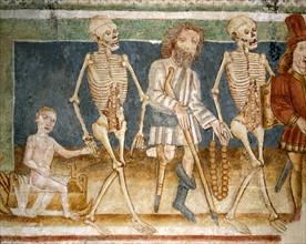 La Mort accompagnant l'enfant et l'estropié