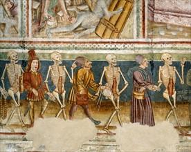 Détail de la Danse macabre de l'église de Hrastovlje