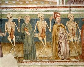 La Mort accompagnant le simple moine et l'évêque