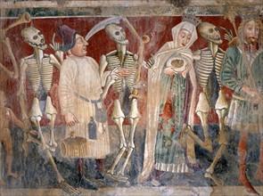 La reine et l'aubergiste accompagnés par la Mort