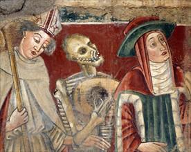 La Mort joue sa ballade entre le Cardinal et l'Evêque