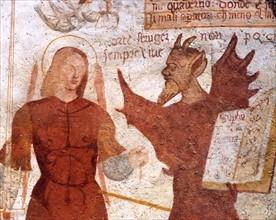 Danse macabre de l'Eglise Saint-Vigile à Pinzolo (Italie)