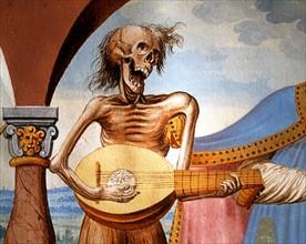 Kauw, La Danse des Morts : la Mort jouant de la mandoline