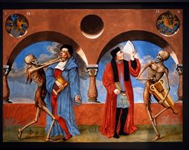 Kauw, La Danse des Morts : la Mort avec le théologien et l'astrologue