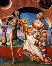 Kauw, La Danse des Morts : la Mort invite l'impératrice au bal et joue sa ballade à la reine (détail)