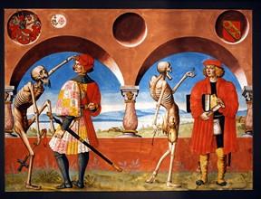 Kauw, La Danse des Morts : la Mort avec le chevalier et le percepteur des impôts