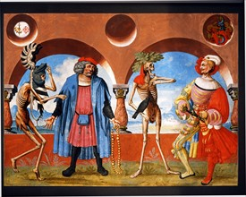 Kauw, La Danse des Morts : la Mort avec le chef du gouvernement et le noble de Berne