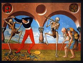 Kauw, La Danse des Morts : la Mort avec l'artisan et le mendiant