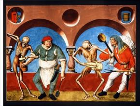 Kauw, La Danse des Morts : la Mort avec le cuisinier et le paysan