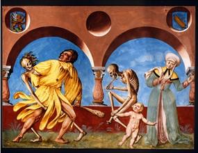 Kauw, La Danse des Morts : la Mort avec l'imbécile et l'enfant