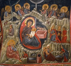 Nativity and the Annunciation to the shepherds
