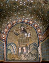 Narthex de la Chapelle de l'Archevêché à Ravenne