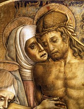 Vittore Crivelli, Lamentation on the body of Christ (detail)
