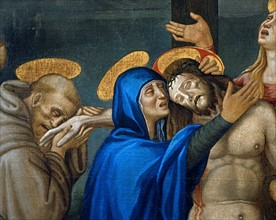 L'Alunno, Lamentation on the body of Christ (detail)