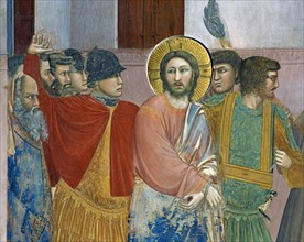 Giotto, Jesus before Caiaphas (detail)
