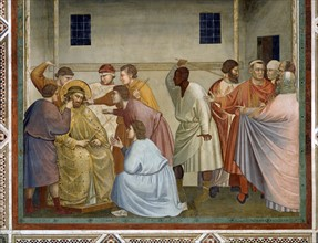 Giotto, Flagellation of Christ. The Coronation with thorns. Christ mocked
