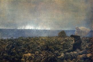 """""""La Divine Comédie"""", l'Enfer : Les gourmands couchés dans la boue sous une pluie noire et glaciale"""