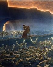 """""""La Divine Comédie"""", l'Enfer : les coléreux immergés dans les eaux boueuses du Styx"""