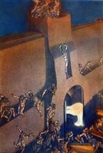 """""""La Divine Comédie"""", l'Enfer : L'ange envoyé par Dieu ouvre à Dante et Virgile les portes de la ville enflammée de Dité"""
