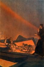 """""""La Divine Comédie"""", l'Enfer : Les Hérétiques, couchés dans des tombes brûlantes"""
