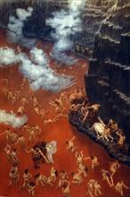 """""""La Divine Comédie"""", l'Enfer : les Violents contre leur prochain, immergés dans un fleuve de sang bouillant"""