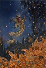 """""""La Divine Comédie"""", l'Enfer : Dante et Virgile descendent dans le gouffre sur le dos du démon Géryon"""