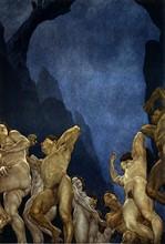"""""""La Divine Comédie"""", l'Enfer : les Adulateurs, plongés dans le fleuve de fumier"""