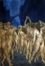 """""""La Divine Comédie"""", l'Enfer : Les Mages et Devins condamnés à marcher à reculons, la tête à l'envers"""