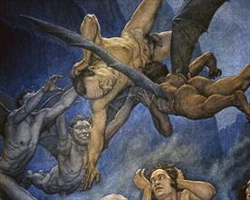 """""""La Divine Comédie"""", l'Enfer : Trafiquants et Concussionnaires immergés dans la poix brûlante et harponnés par les démons"""